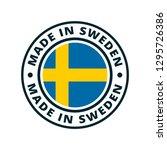 made in sweden label... | Shutterstock .eps vector #1295726386
