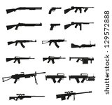 weapon and gun set collection... | Shutterstock .eps vector #129572888