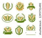 corn label and element set....   Shutterstock .eps vector #1295751490