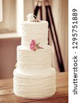 naked wedding cake with... | Shutterstock . vector #1295751889