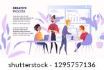 illustration working space team ... | Shutterstock .eps vector #1295757136