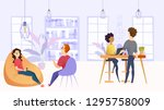 illustration working... | Shutterstock .eps vector #1295758009