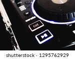 cue and play button on a black... | Shutterstock . vector #1295762929