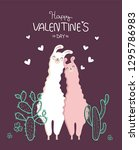 collection of valentine's day... | Shutterstock .eps vector #1295786983