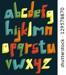 colorful 3d lower case alphabet ... | Shutterstock .eps vector #129578870