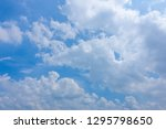 beautiful blue sky with cloudy. ... | Shutterstock . vector #1295798650