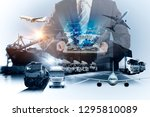 smart technology concept with...   Shutterstock . vector #1295810089