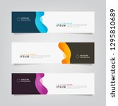 vector abstract banner design... | Shutterstock .eps vector #1295810689