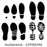 foot prints macro | Shutterstock .eps vector #129582446
