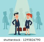 successful  smiling businessman ... | Shutterstock .eps vector #1295826790