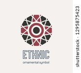 mosaic arabic ornament. vector... | Shutterstock .eps vector #1295875423
