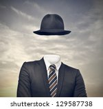 invisible businessman with hat | Shutterstock . vector #129587738