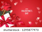 valentine's day design template.... | Shutterstock .eps vector #1295877973