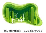 green city with building and... | Shutterstock .eps vector #1295879086