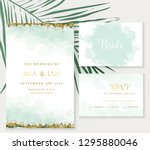 stylish dusty emerald... | Shutterstock .eps vector #1295880046