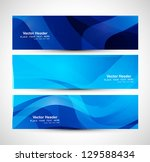 abstract blue colorful header... | Shutterstock .eps vector #129588434