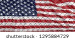 usa and migration border fence. ... | Shutterstock . vector #1295884729