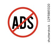 no ads icon vector. no ads... | Shutterstock .eps vector #1295885320