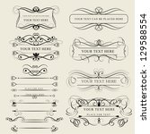 set of design elements isolated ... | Shutterstock .eps vector #129588554