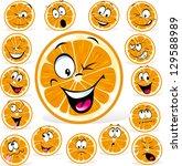 Orange Cartoon With Many...