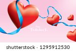 valentine 3d colorful red... | Shutterstock .eps vector #1295912530