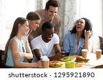 smiling african american man... | Shutterstock . vector #1295921890