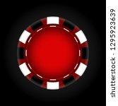 chips for the casino. gambling. ... | Shutterstock .eps vector #1295923639