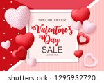 valentines day sale  discont... | Shutterstock .eps vector #1295932720