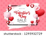 valentines day sale  discont... | Shutterstock .eps vector #1295932729