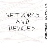 writing note showing networks... | Shutterstock . vector #1295933476