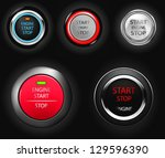 start stop engine buttons | Shutterstock .eps vector #129596390