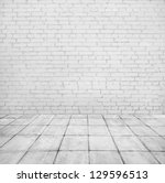 Room Interior With White Brick...