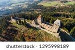 Ruins Of Castle Kasperk Aerial...
