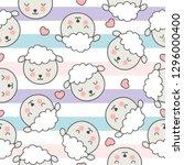 seamless children's pattern... | Shutterstock .eps vector #1296000400