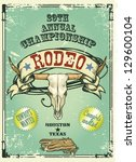 retro style rodeo championship... | Shutterstock .eps vector #129600104