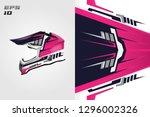 helmet wrap decal designs... | Shutterstock .eps vector #1296002326