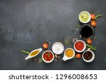 set of different sauces  ...   Shutterstock . vector #1296008653