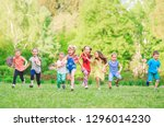 many different kids  boys and... | Shutterstock . vector #1296014230