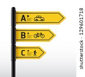 modern road sign design... | Shutterstock .eps vector #129601718