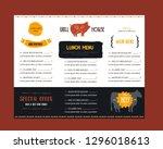 fast food menu in modern style... | Shutterstock .eps vector #1296018613
