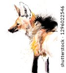 guara wolf. mane wolf. tropical ... | Shutterstock . vector #1296022546