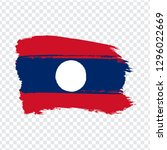flag laos from brush strokes. ...