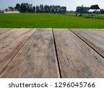empty wooden table in the... | Shutterstock . vector #1296045766