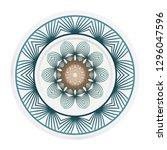 fashion medallion. vector...   Shutterstock .eps vector #1296047596