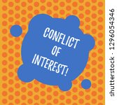 writing note showing conflict... | Shutterstock . vector #1296054346