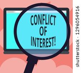 writing note showing conflict... | Shutterstock . vector #1296054916