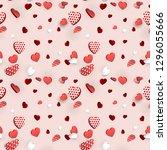 valentines day heart seamless... | Shutterstock .eps vector #1296055666