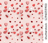 valentines day heart seamless... | Shutterstock .eps vector #1296055903