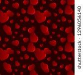 valentines day heart seamless... | Shutterstock .eps vector #1296056140