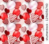 valentines day heart seamless... | Shutterstock .eps vector #1296056740